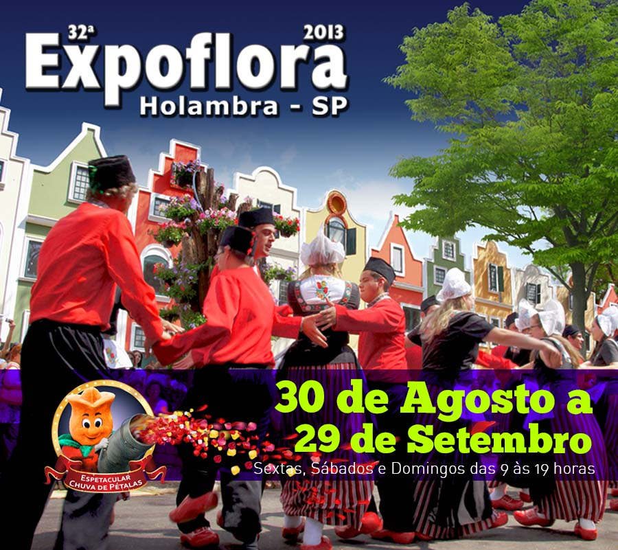 Expoflora 2013, em Holambra. Cartaz do evento