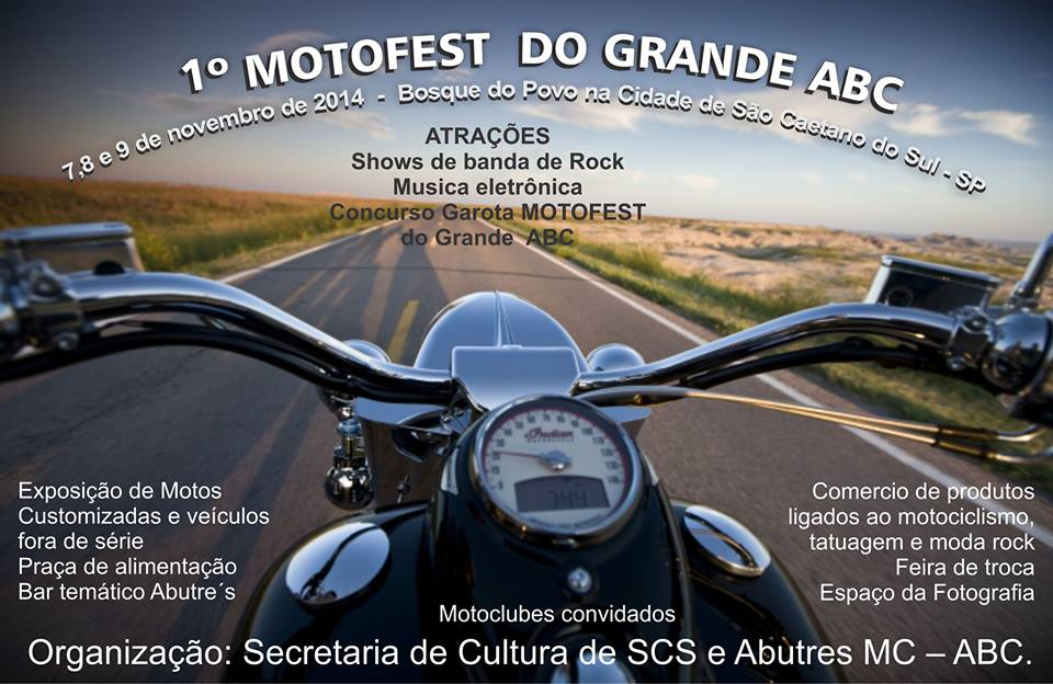 1º MotoFest do Grande ABC. Flyer do evento